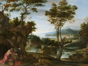 """Landscape with St Jerome"" by Domenichino"